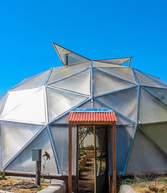 Vents open on Growing Dome Greenhouse