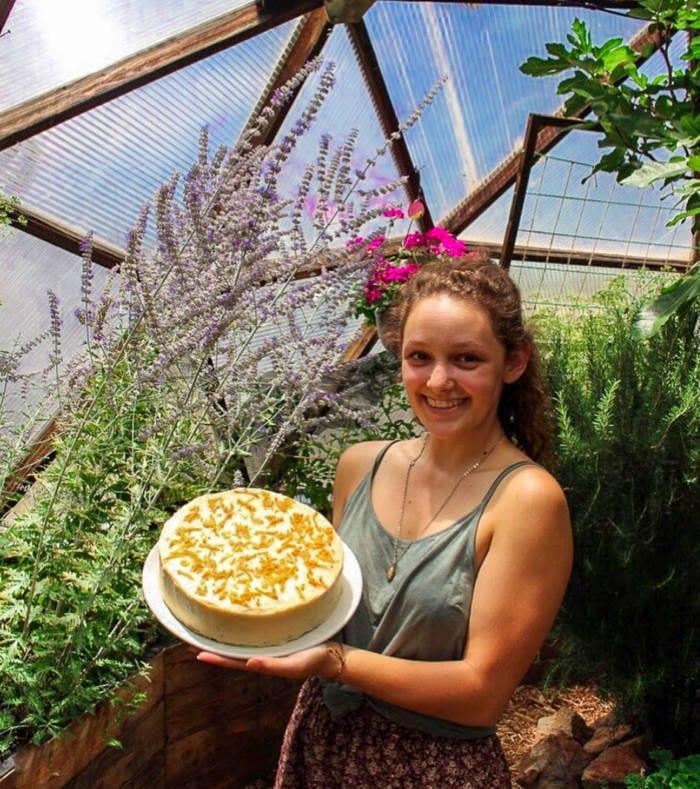 Della with a Carrot Cake
