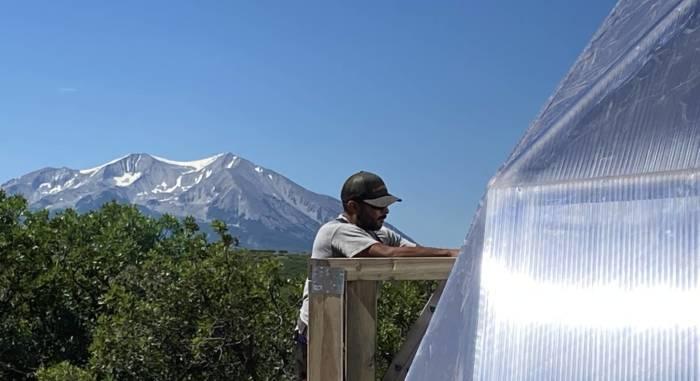 Solar Greenhouse Installation