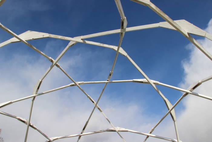Windstart geodesic biodome basketweave design