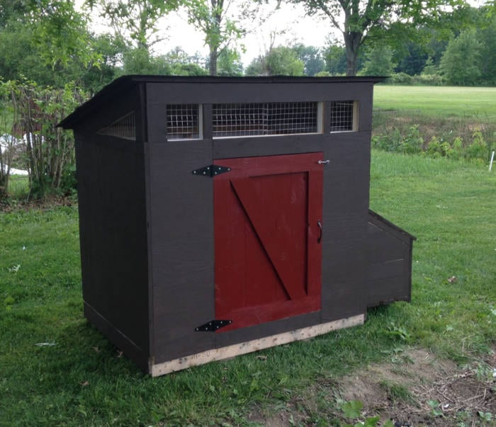 Chicken Coop made from OSB and Pallets
